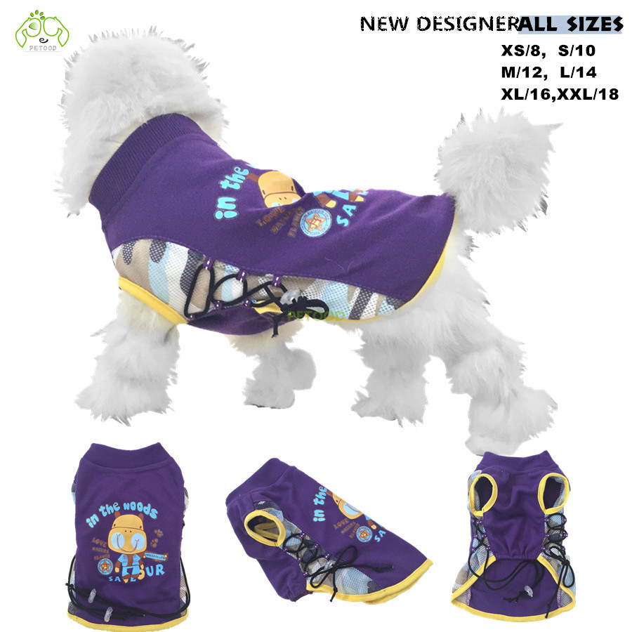 Dog clothes summer T shirt dog vests cotton stitch camouflage mesh pet clothing for small and big dogs cats and animals