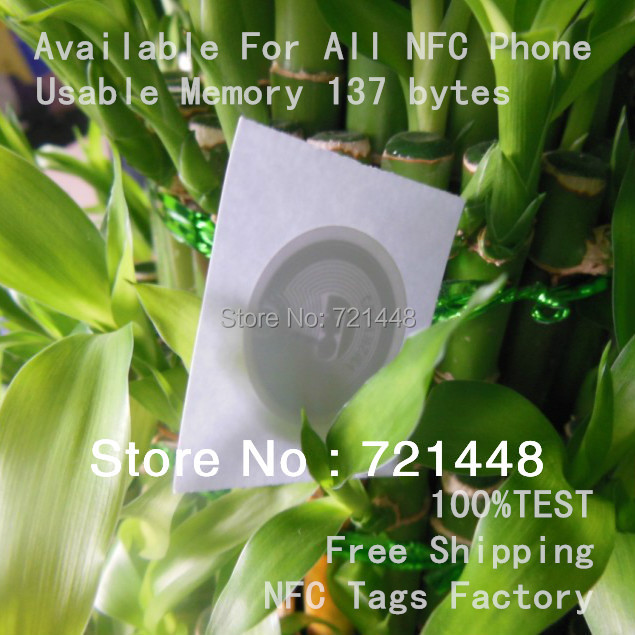 100pcs  NFC Labels Usable Memory 137 bytes NFC tags Available For All NFC Phone<br><br>Aliexpress