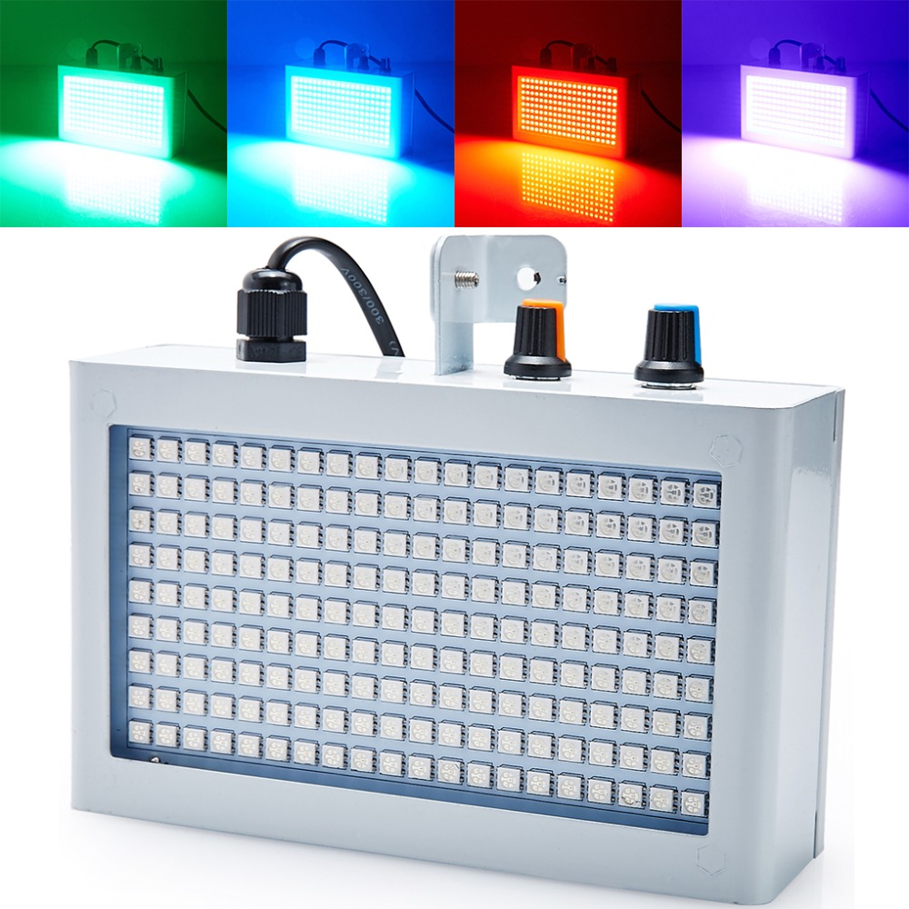 High quality Mini Sound control 180RGB SMD5050 LED Disco Party DJ Stage Light Music Show Strobe Projector Lighting Effect(China (Mainland))