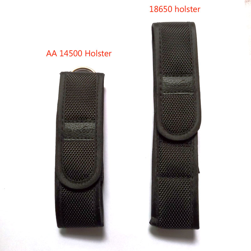 Black Flashlight Holster Nylon Torch Case Pouch Cover Belt Single AA 14500 18650 Considerable Size Lights - AL Lifestyle store