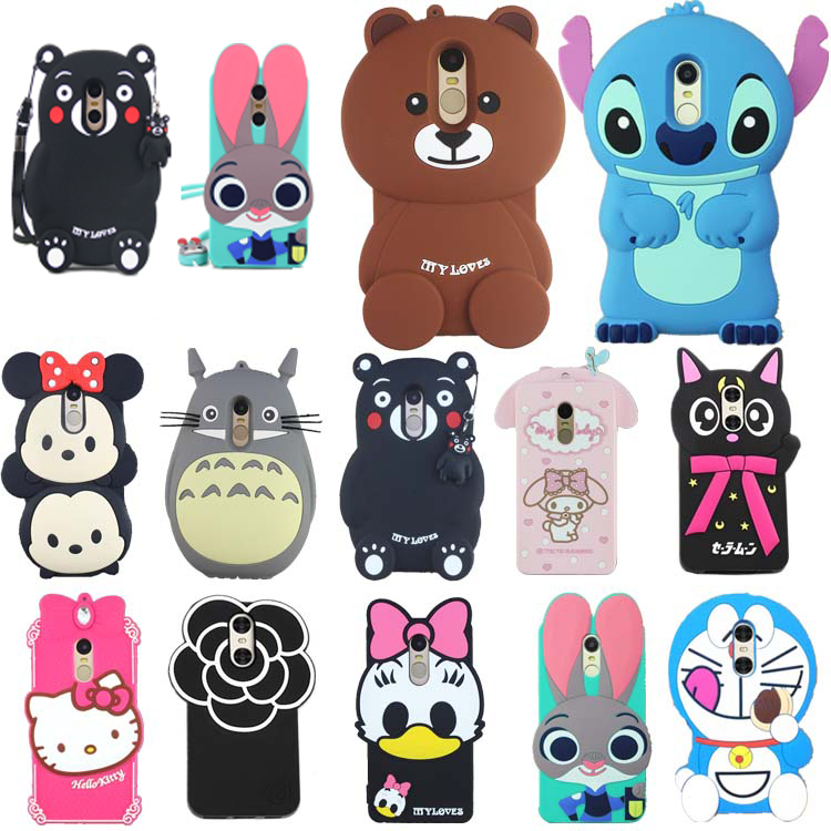 30 Types Xiaomi Redmi Note 4 Case Lovely Cute 3D Cartoon Soft Silicon Cover Xiaomi Redmi Note4 Hongmi Note4 Phone Cases