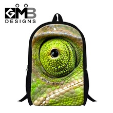 Buy Stylish chameleon 3D Printed bookbags primary student,boys cool school backpacks,design day pack,fashion back pack women for $19.76 in AliExpress store