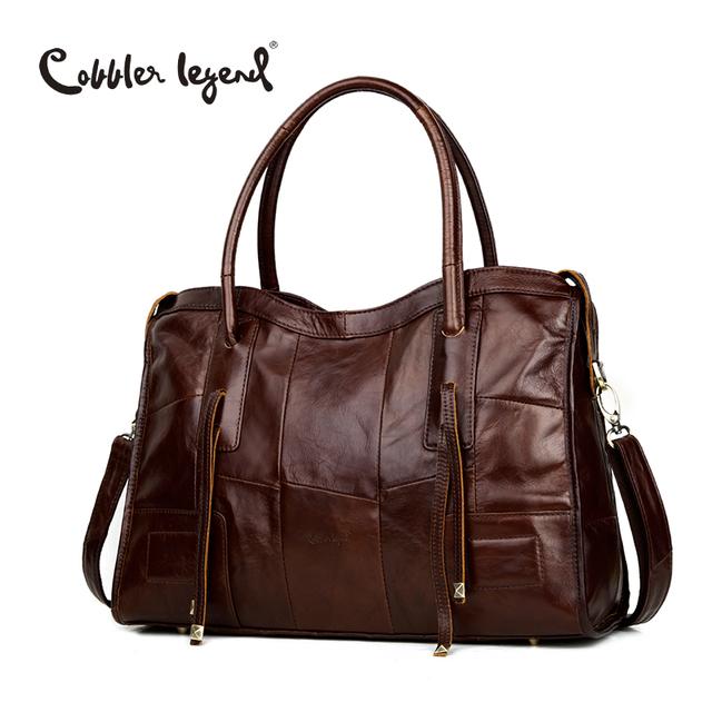 Cobbler Legend Genuine Leather Bag For Men Or Women Vintage Handbag Real Cowhide Crossbody Bags Unisex Travel Laptop Bag Totes