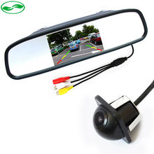 Auto Video Parking Assistance, HD 4.3 inch Color LCD Car Rearview Mirror Monitor + MiNi Night Vision CCD Rear View Camera(China (Mainland))