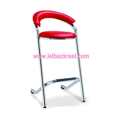 Modern kitchen leather high bar chair and table used with foot rest and armrest furniture supplier price(China (Mainland))