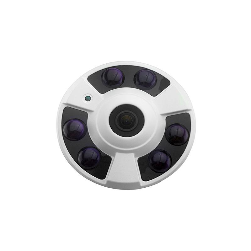 POE Fisheye 180 Degree HD 5MP Megapixel security IP Camera Indoor Network P2P 6 IR Night free shipping(China (Mainland))