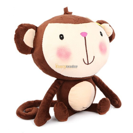 Fancytrader 2015 New Style High Quality Toy 30'' 76cm Giant Plush Stuffed Monkey, 2 Colors! Birthday Gift, Free Shipping FT90333(China (Mainland))