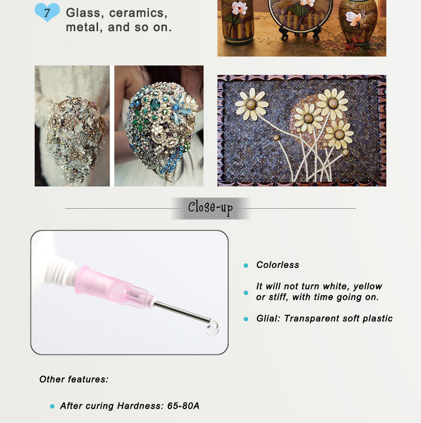 ZHANLIDA EE6000 15ml Epoxy Resin Strength Adhesives Colorless Transparent Glue Wood Furniture Crystal Lamps Glue Gun