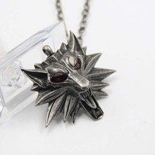2015 necklaces amp pendants Witcher pendant The wizard Witcher Wolf head Medal pendant The Witcher necklace