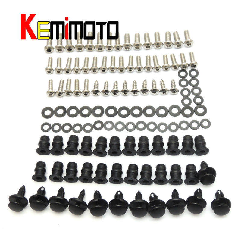 2008 2009 ZX10R Moto Full Fairing Screws Nut Bolts For Kawasaki Ninja ZX-10R ZX10R 2008 2009 08 09(China (Mainland))