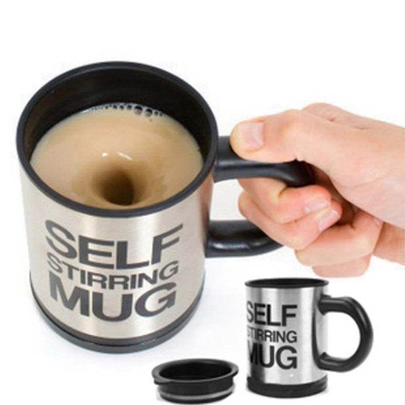 Гаджет  New design Automatic Plain Mixing coffee Tea cup Lazy Self strring mug button Pressing Promotion  None Дом и Сад