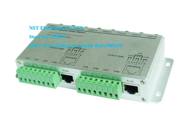 Free Shipping/ 1 PCS/ High Quality CCTV 8 Channel Passive UTP Transmitter Video Balun BNC Female to UTP Rj45 Cat5 New(China (Mainland))
