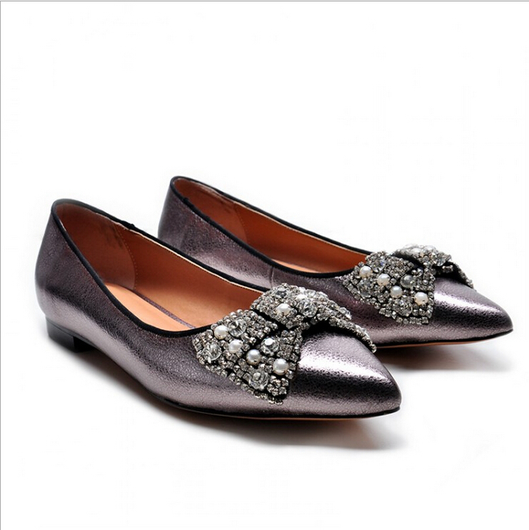 style 2015 new flat shoes in europe and the bowknot