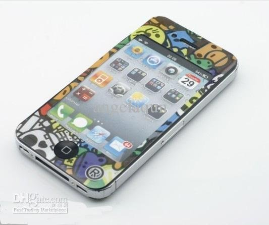 Decoration film full body guard, Skin Stickers Paster for iphone 4 4g 4th 20pcs
