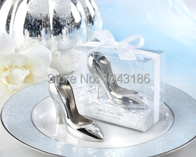 Free shipping Cinderella shoe bottle opener 100PCS/LOT wedding bridal shower favor party gifts(China (Mainland))