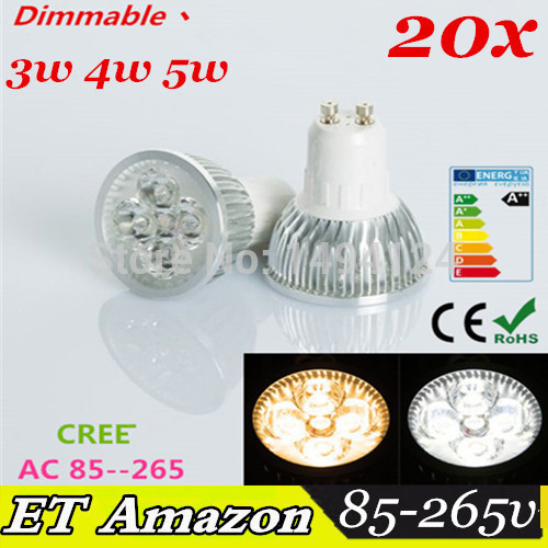 10X GU10 4x1W 12W Dimmable led bulb Lamp Bulb warm and cold white led Downlight Spotlight Led FREE SHIPPING(China (Mainland))