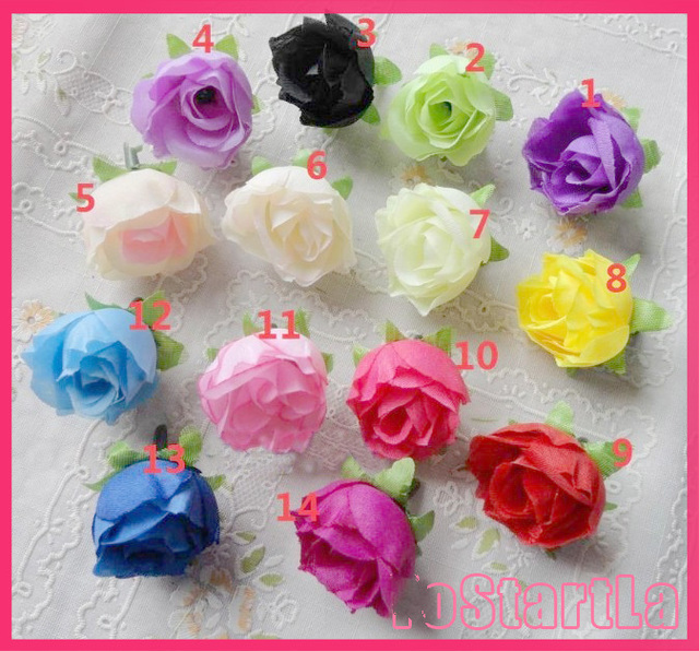 Artificial rose head flower for vine crystal curtain