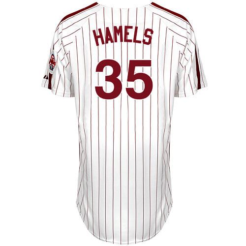 2015 New Philadelphia Phillies Mens Jerseys #35 Cole Hamels White 1991 Throwback Baseball Jersey4114