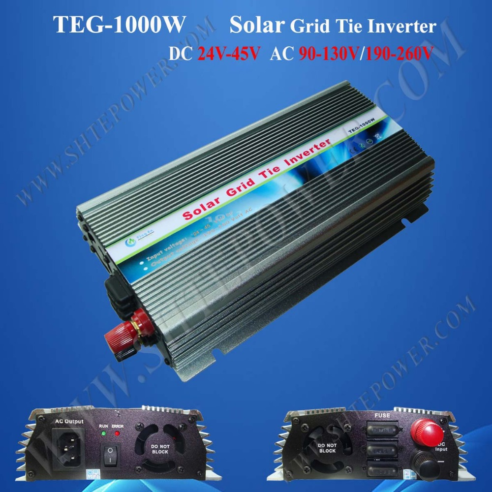 1000W Grid Tie Inverter MPPT Function, Pure Sine Wave 220V/230V/240VAC Output 24-45VDC Input Micro on grid tie inverter(China (Mainland))