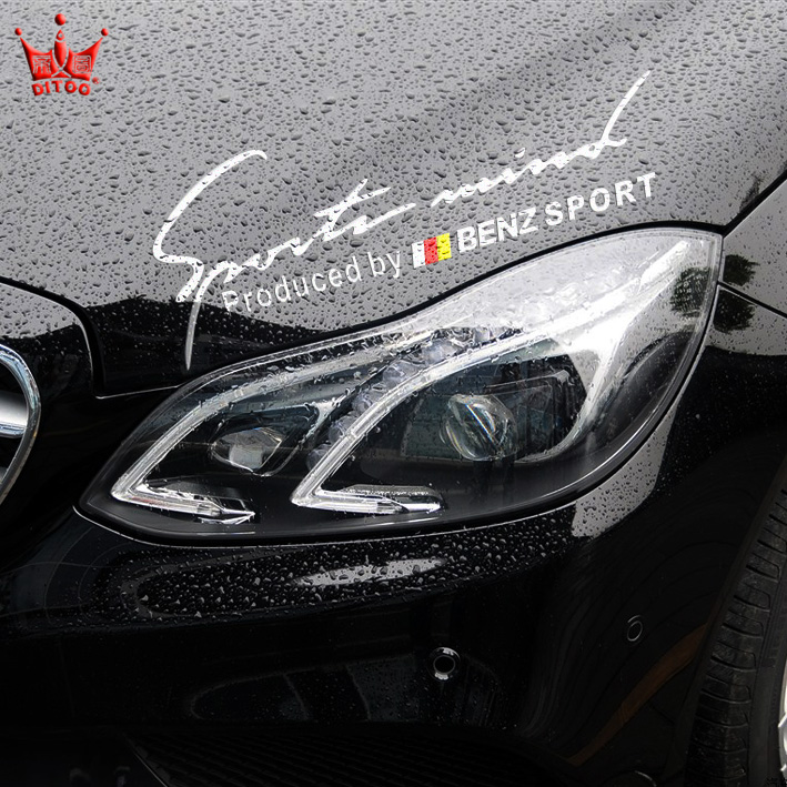 Fashion BENZ SPORT style car lamp eyes decor sticker,personality reflective sport car head styling stickers for mercedes benz<br><br>Aliexpress