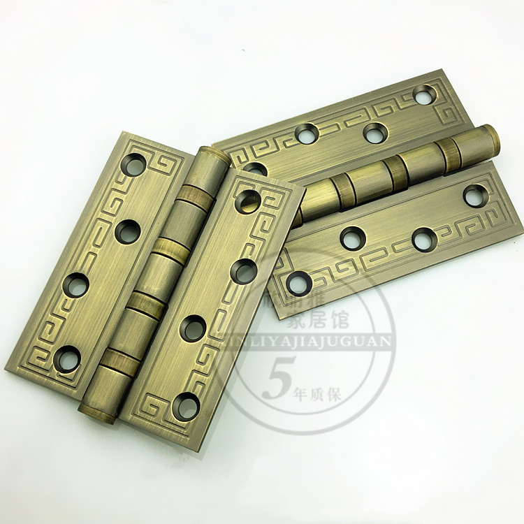 2015 Direct Selling Rushed Hinges Hinges for Box Silver Cabinets Chinese Wooden Door Hinge Stainless Steel Bearings Silencer 3mm(China (Mainland))