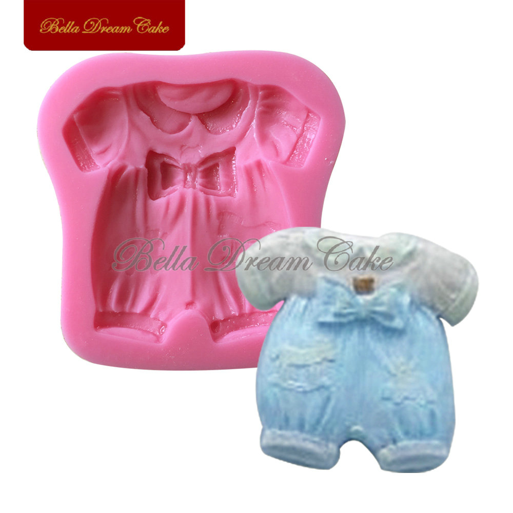 New Arrival Baby Clothes Silicone Cake Mold 3d Fondat Mould Silicone Decorating Mold Design Cake Soap Mould Tools SM-517(China (Mainland))
