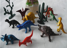 Free shipping12pcs Dinosaur Toy Set Plastic Jurassic Park World Play Toys Dinosaur Model Action DINOSAUR Best Gift For Boys(China (Mainland))
