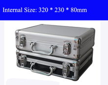 Aluminum Tool case suitcase toolbox File box Impact resistant safety case equipment camera case with pre-cut foam shipping free(China (Mainland))