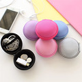 Cute Portable Earphone Cases Hard Headphone Storage Box for Earbuds Keys Coins Cables Earphone Accessories Carrying