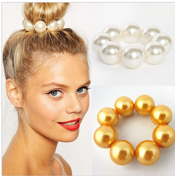 New Korea Jewelry Hair Accessories Big Pearl Hairbands for Women(China (Mainland))