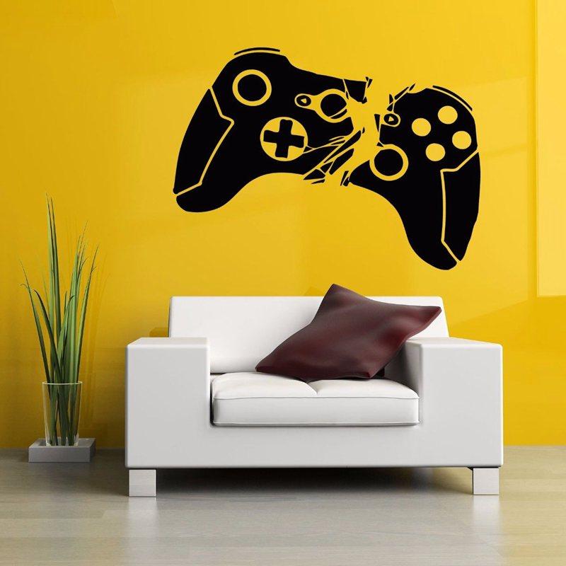 Promo o de decalques da parede do gamer disconto for Decoracion gamer