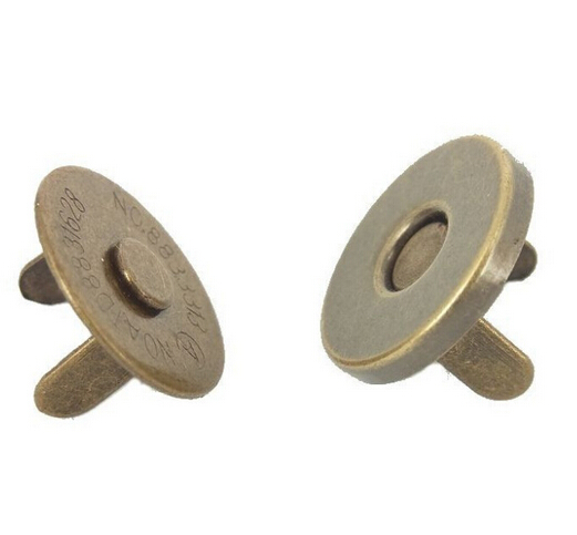 14mm  Thin Magnetic Buttons Purse Snaps Antique Brass Fasteners Bag Accessories 200 Sets/lot<br><br>Aliexpress
