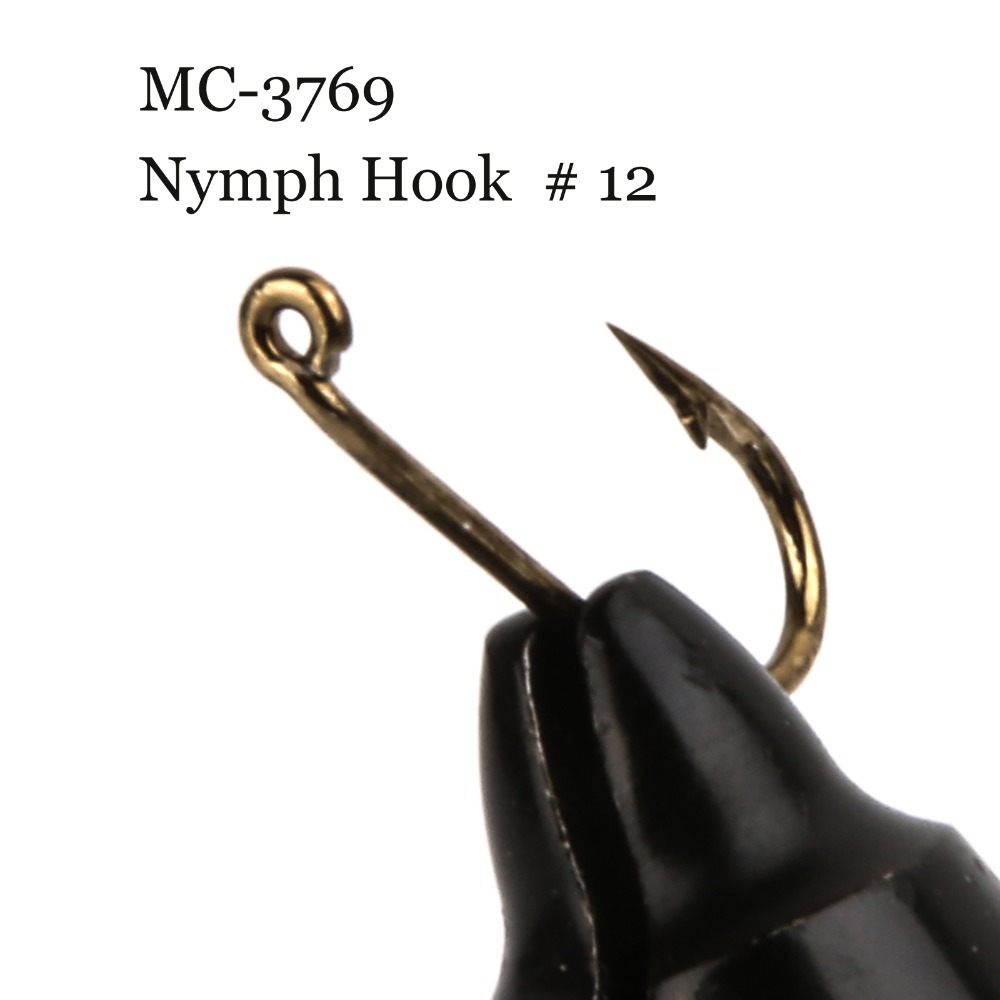 500 Pieces MC-3769 Size 12 Fly Tying Hook Nymph Hook Nymph Fly Fishing Hook(China (Mainland))