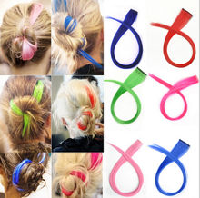 1xFashion Lady Clip in Synthetic Hair Extensions Streaks Dye Hair Piece Wig Clip(China (Mainland))