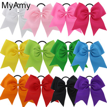 Buy MyAmy 7.5 Inch Hair Bows Boutique Elastic Ties Cheerleading Cheer Bow Grosgrain Ribbon Bow Hair Accessories for $17.28 in AliExpress store