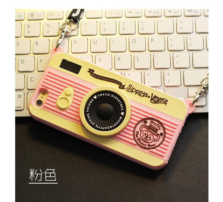 New Fashion Cute 3D Cartoon Camera Design Soft Silicone Full Back Cover phone Case For iPhone 4 4s 5 5s 6 6s 6 plus 6s plus
