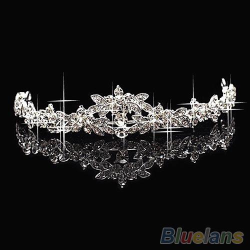 HOT Elegant Sparkly Crystal Rhinestone Crown Tiara Wedding Prom Bride's Headband wedding headband 025C(China (Mainland))