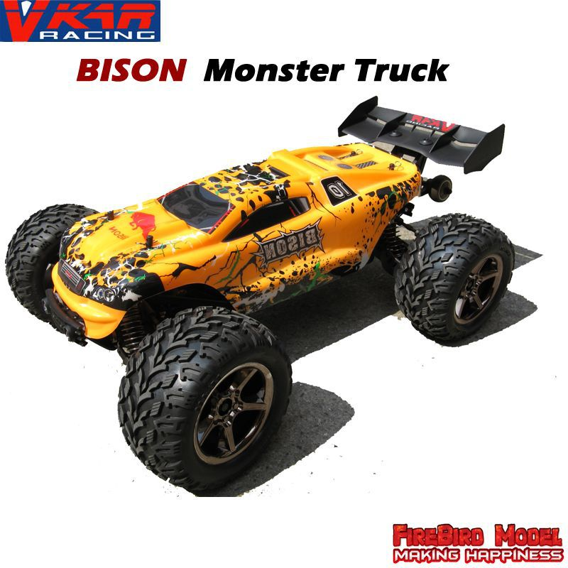 VKAR Bison 1:10 Scale Waterproof 4WD Off-Road High speed electronics remote control Monster Truck,rc racing cars(China (Mainland))