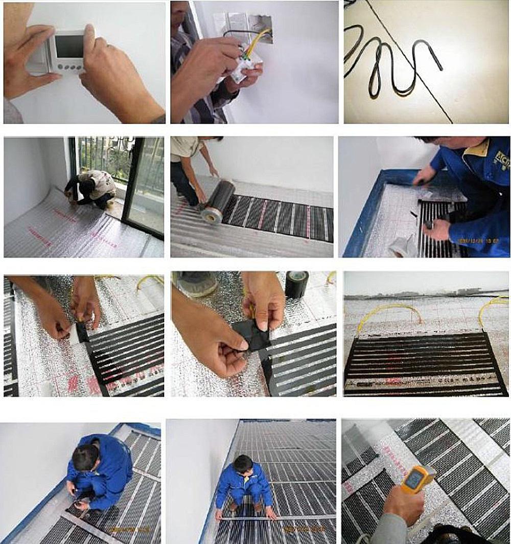 heating film installation steps
