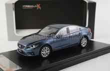 Rare Blue 2013 1/43 Mazda 6 Atenza Premiumx X Miniature Model Car Rare High Simulation Collection Mini Metal  Toys