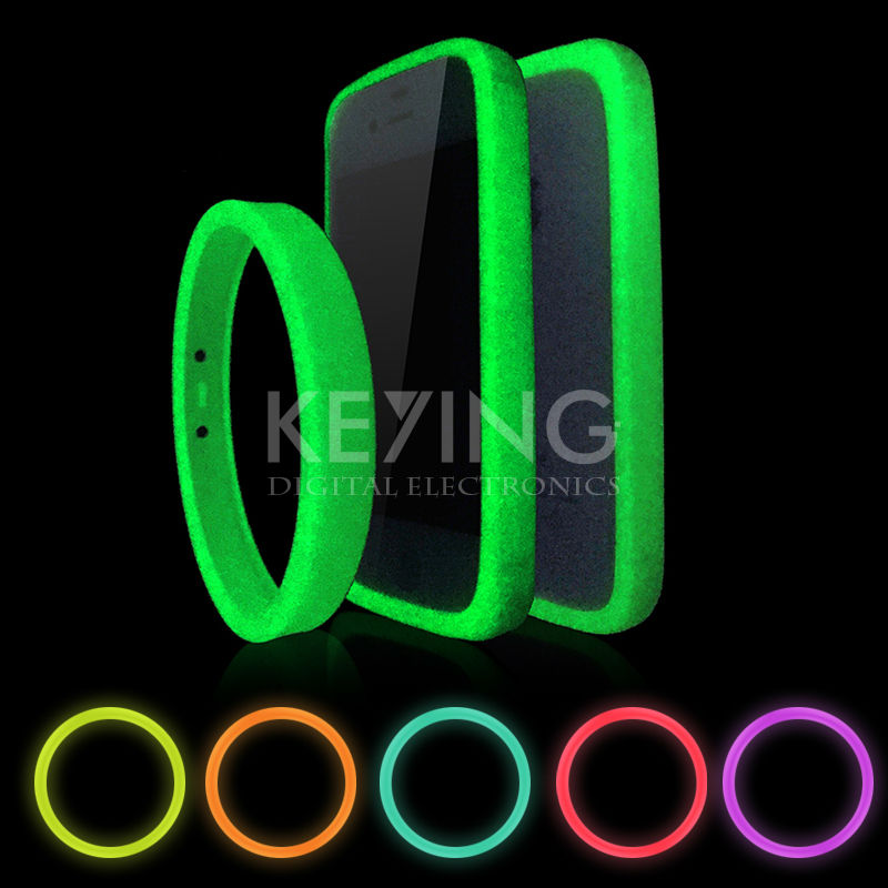 Silicon Luminous Bracelet Mobile Phone Case 10 Colors Non-Slip Mobile Phones Ring for Samsung Huawei Xiaomi iPhone4 5 6 ect(China (Mainland))