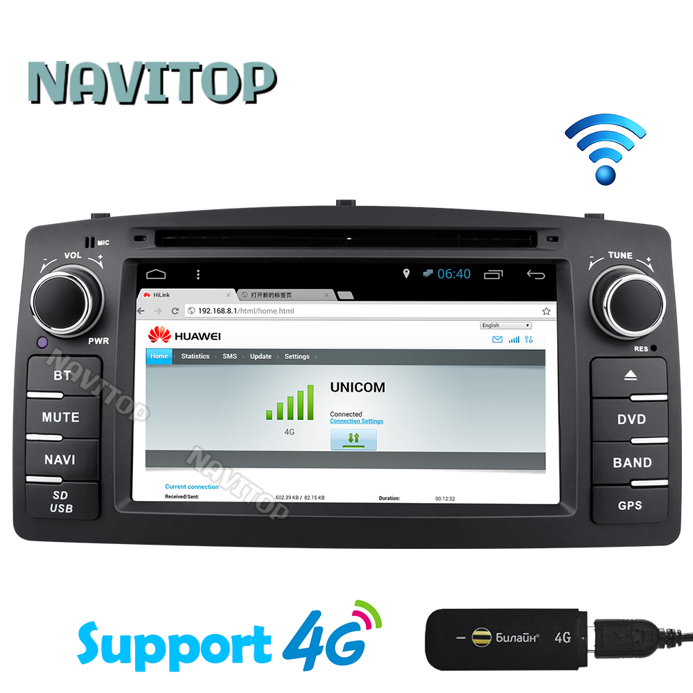 Navitop android 6.0 car dvd player gps for Toyota Corolla E120 BYD F3 2003 2004 2005 2006 car dvd stereo gps with touch screen(China (Mainland))