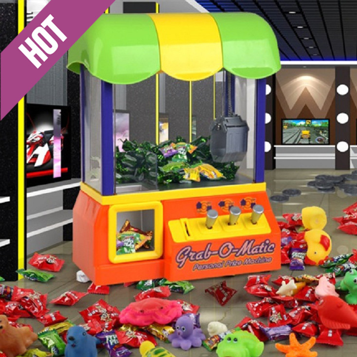 Electric crane machine Claw Crane Electronic Candy + 10Pcs doll & Toy Grabber Game Arcade Machine crane game toys(China (Mainland))