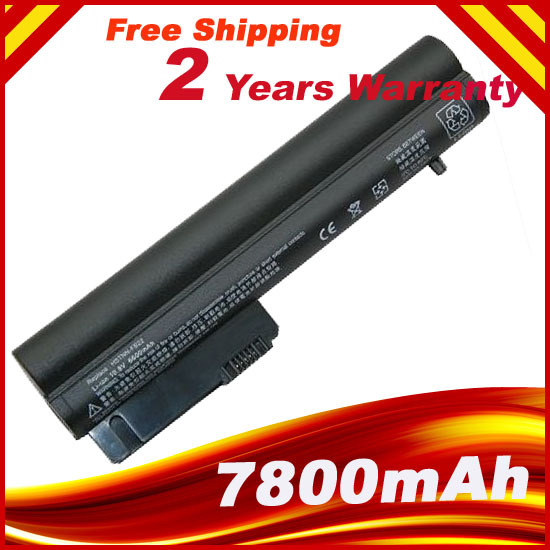 7800mAh 9 Cell Replacement Laptop battery HP 2533t EliteBook 2530p 2540p Hp Compaq 2400 Series 2510p nc2400
