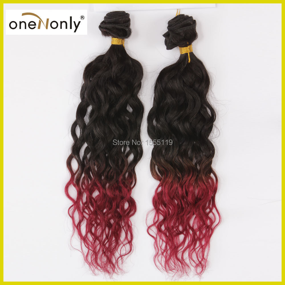 4 Colros oneNonly Ombre Hair Extensions 6A Malaysian Virgin Curly Hair Human Hair Malaysian Wave 10-26 Remy Human hair Weave<br><br>Aliexpress