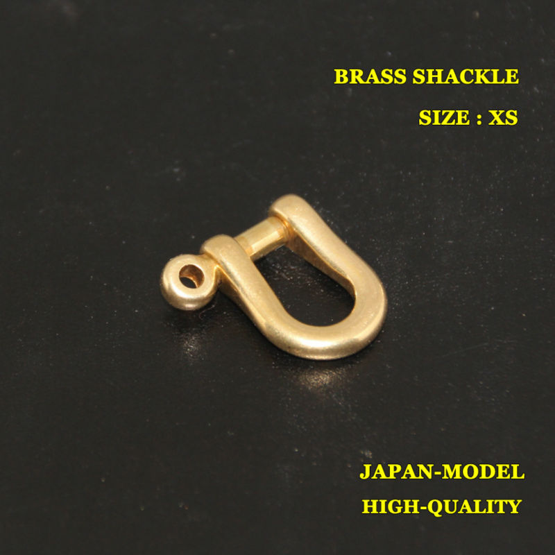 (SK601) 10pc X-Small Solid Brass Shackle Joint Connect Key Chain Hook Leathercraft(China (Mainland))