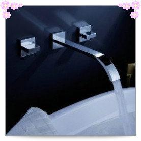 2014 dual handle new arrival top fasion faucet handles kitchen faucet torneira para banheiro torneira sink 2 handle bathtub wall(China (Mainland))