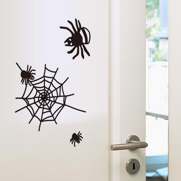 New Removable Wall Stickers Decor Spider Bedroom Living Room Glass Decorative Insect Home Decal Sticke(China (Mainland))