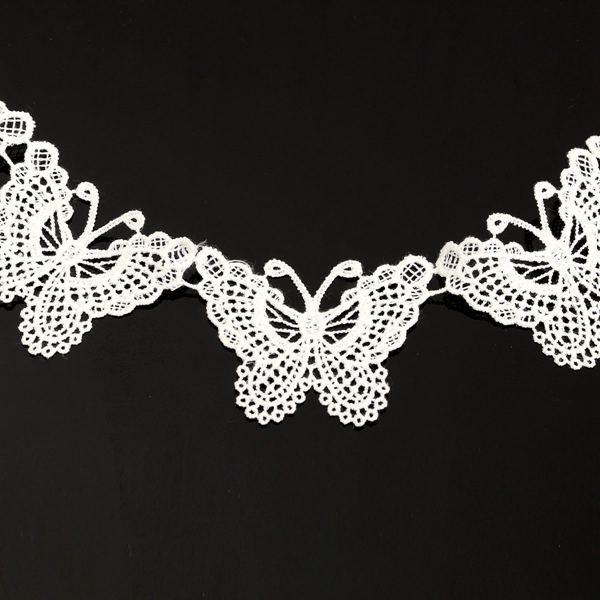 New Fashion Guipure Butterfly Pattern Applique Lace Trim Sewing DIY Crochet Embroidered Craft Net Trim(China (Mainland))