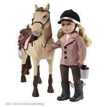 18 дюймов американский принцесса куклы, Для кукол, Оригинальный езда наряд и лошадь комплект для 18 » девушка куклы